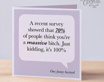 Funny Extremely Rude Card Funny Birthday Card Rude Birthday Etsy