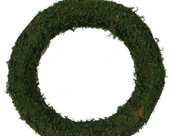 """On Sale 12"""" Moss Wreath, Wire Covered in Moss, Wreath Making Supply, DIY Projects"""