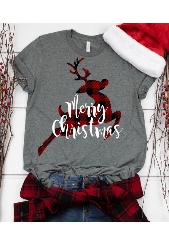 Christmas SVG Buffalo Plaid Reindeer SVG Reindeer Svg | Etsy