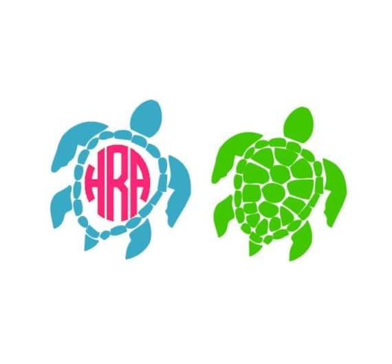 Download Sea Turtle Monogram SVG Studio 3 DXF PS Ai and Pdf Cutting ...