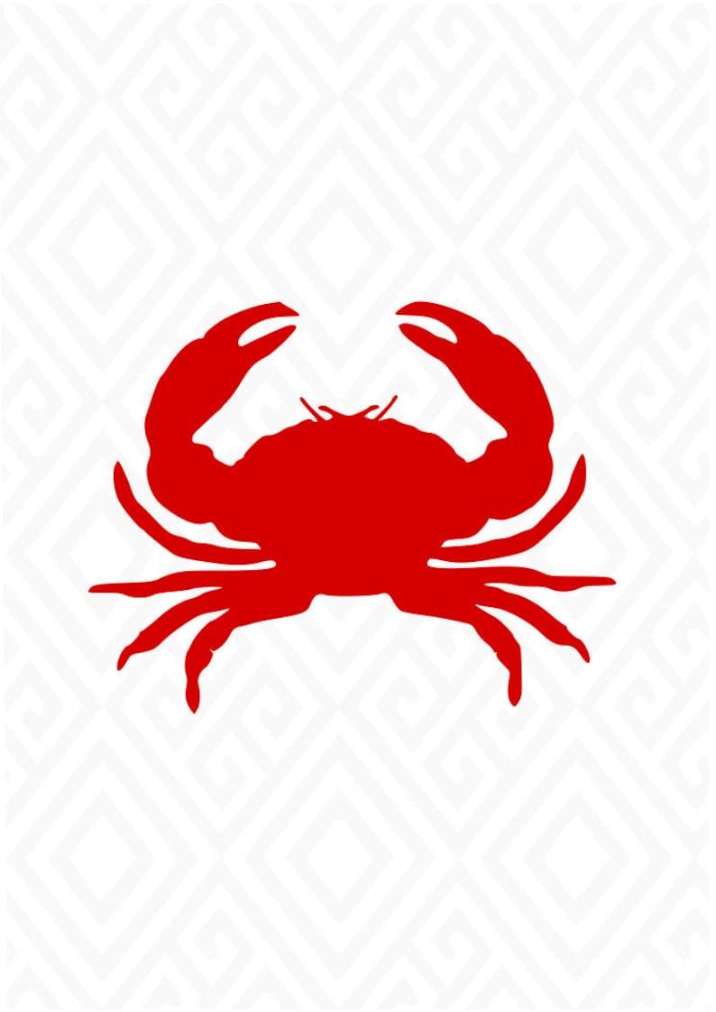 Crabe SimpleSvgSvg Fichiers Shirt Le De BeachOcean Et Impression Rouge T Coupe DxfAiEps PdfPngJpeg mnOyvN80w