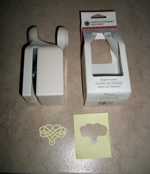 Martha Stewart HEART SEAL Valentines Day Paper Punch Double Craft Scrapbook Card Making Wedding