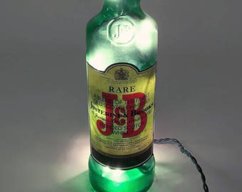 J&B Rare Bourbon Whiskey Bottle Light / Gifts for Men / Gift Ideas