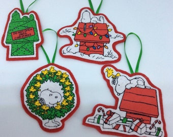 Snoopy And Woodstock Christmas Ornaments.Snoopy Ornament Etsy
