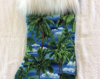 Tropical Palm Tree Christmas Stockings!!!! Full Size Stockings!!!!