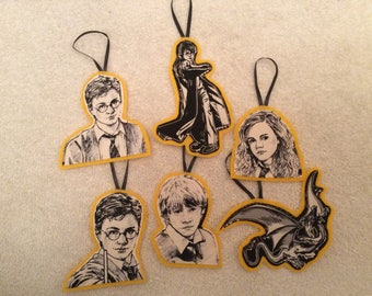 Harry Potter Ornaments (gold)-Set of 6
