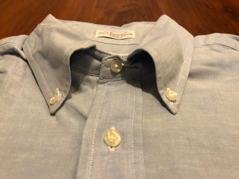 années 1960 SERO PURISTE clair bleu Oxford Pinpoint tissu coton 16 bouton  bas chemise   16 c7ecd3dfd22