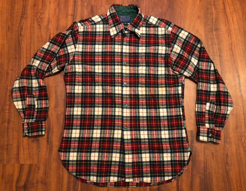 Clothing, Shoes & Accessories Vintage Pendleton Brown Plaid Wool Button-front Oxford Extra-large Xl