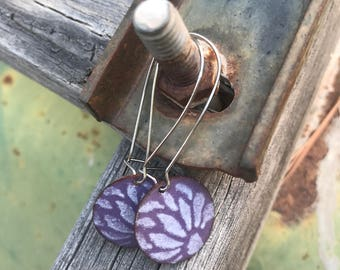 Enameled Copper Wire Earrings