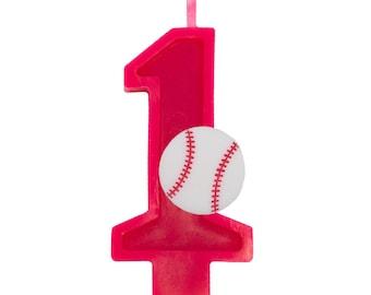 Baseball Birthday Number Candle
