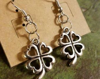 Custom Four Leaf Clover Luck Charm Earrings