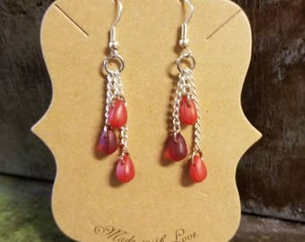 Handmade Horror 'Blood Drop' dangle Earrings