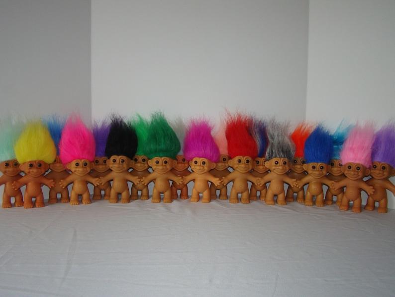 Vintage Russ Troll Dolls BEST SELLER 5 Naked Trolls image 0