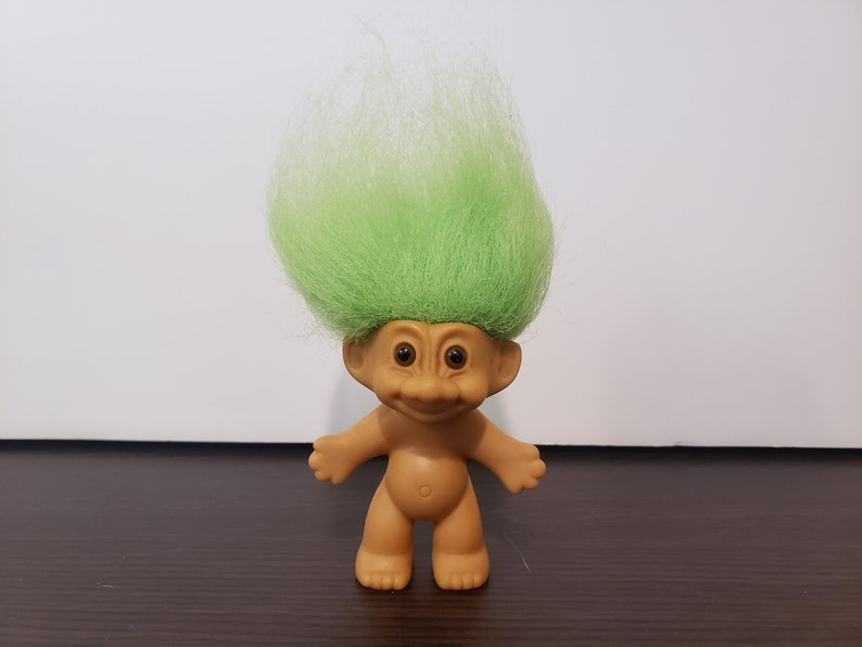 Russ Vintage Naked Red Hair Troll Doll | Etsy