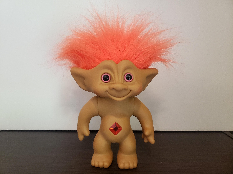 "Russ Troll Doll Orange HAIR NAKED TROLL 5/"" NEW IN ORIGINAL WRAPPER Vintage Retro"