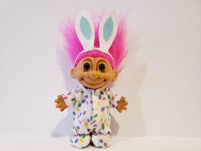 Russ Mini Naked Troll Happy Easter Doll Purple Hair Hard 3
