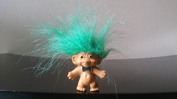 Vintage Russ Troll Doll Pencil Topper Green Hair Trolls Etsy