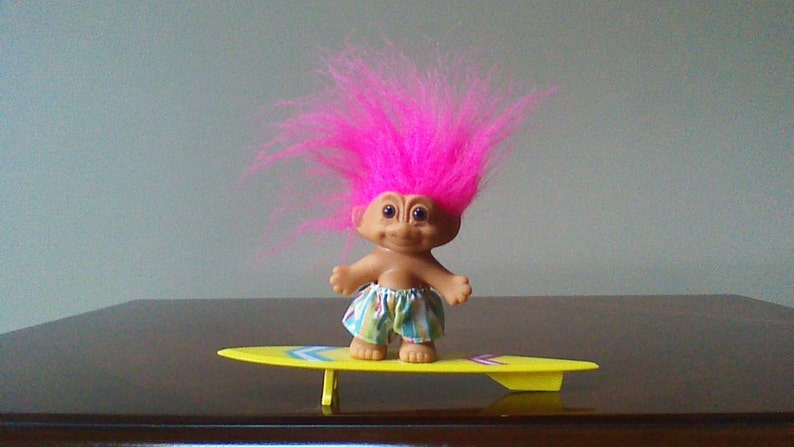 "Pink SURFER NEW IN ORIGINAL WRAPPER 3/"" Russ Troll Doll"