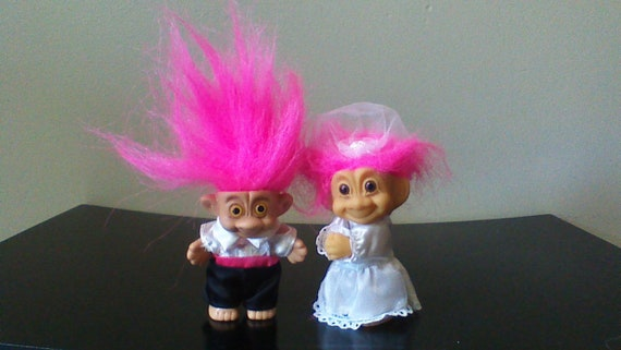 "NEW IN ORIGINAL WRAPPER BLACK 5/"" Russ Troll Doll AFRICAN AMERICAN GROOM"