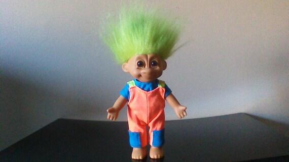 Vintage Russ Travis Troll Doll Green Hair Trolls 7 Tracy Etsy