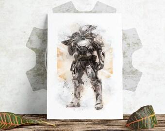 Sketch Print - Destiny - Titan