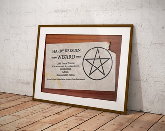 Dresden Files - Harry's Card Poster