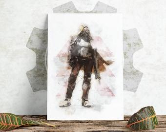 Sketch Print - Destiny - Hunter