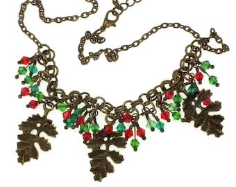 Festive Leafy Necklace