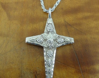 Black Hills Silver Cross signed RL with Chain Sterling 925 Necklace