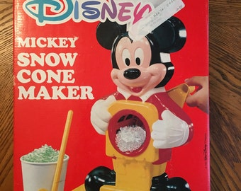 80s Mickey Mouse Snow Cone Maker vintage toy food walt disney vhs video movie fun childhood nostalgia 70s 90s kids awesome cool antique
