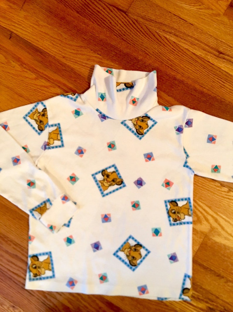 Picture of: 90s Lion King Vintage Childrens Simba Turtle Neck Vintage Etsy