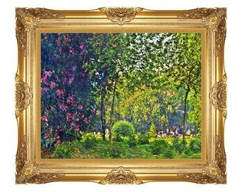 1efdd20344e Le Parc Monceau Claude Monet Framed Park Art Print Canvas Painting  Reproduction - Small to Large Sizes - M02204