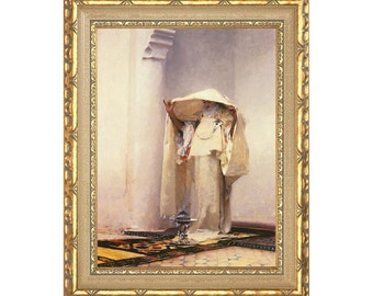 eae0cc5d031 Fumee d Ambre Gris John Singer Sargent Framed Canvas Art Print Painting  Reproduction - Clearance Sale - Sizes Small to Large - M00386