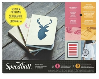 Speedball Introductory Screen Printing Kit - Stencil & Drawing Fluid Set