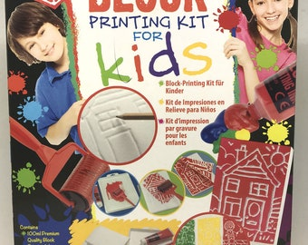 Essdee Block Printing Kit For Kids! 11 Piece Set