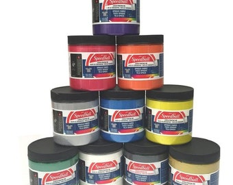 Speedball Opaque 236ml Water Based Dark Fabric Textile Paper Screen Printing Ink