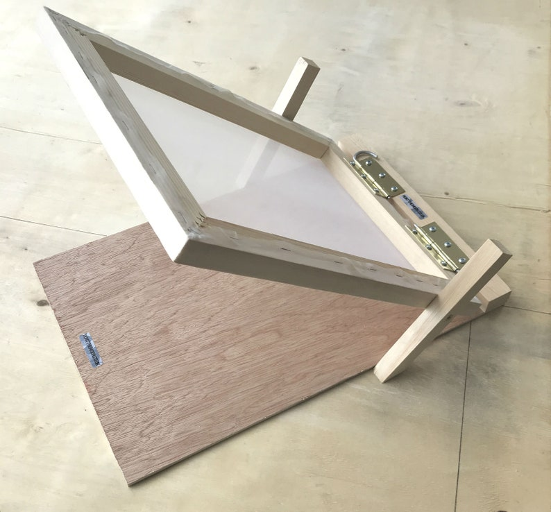 Screen Printing Starter Kit Wooden Hinged Frame /& Squeegee Complete Set 2 Sizes