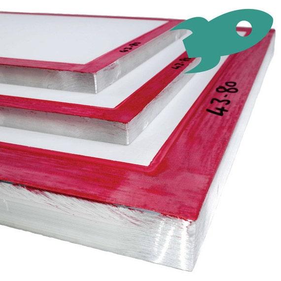 Hunt The Moon Aluminium Silk Screen Printing Frame /& Aluminium Squeegee
