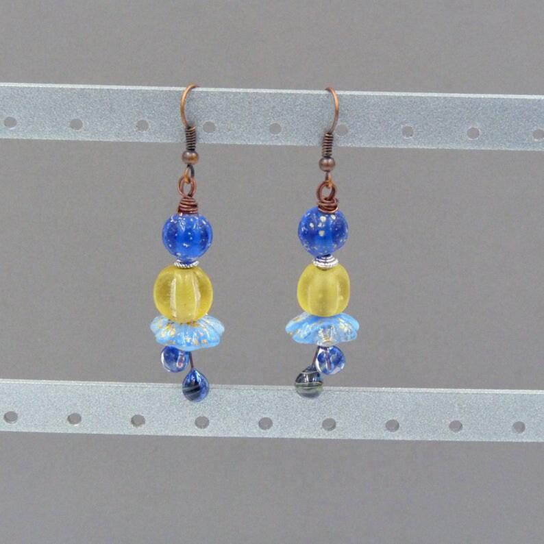 Long Dangle Beaded Womens Earrings Gift for Christmas for image 0