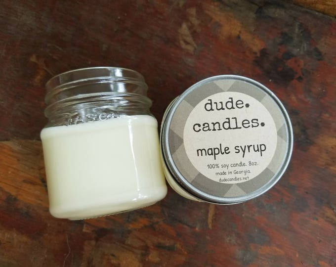 maple syrup candle. 8oz soy candle.