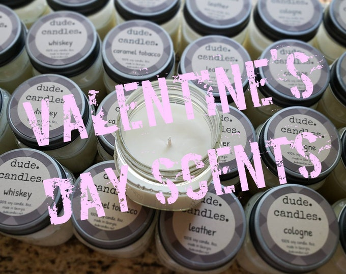Valentines Day candles. 8oz soy candle.