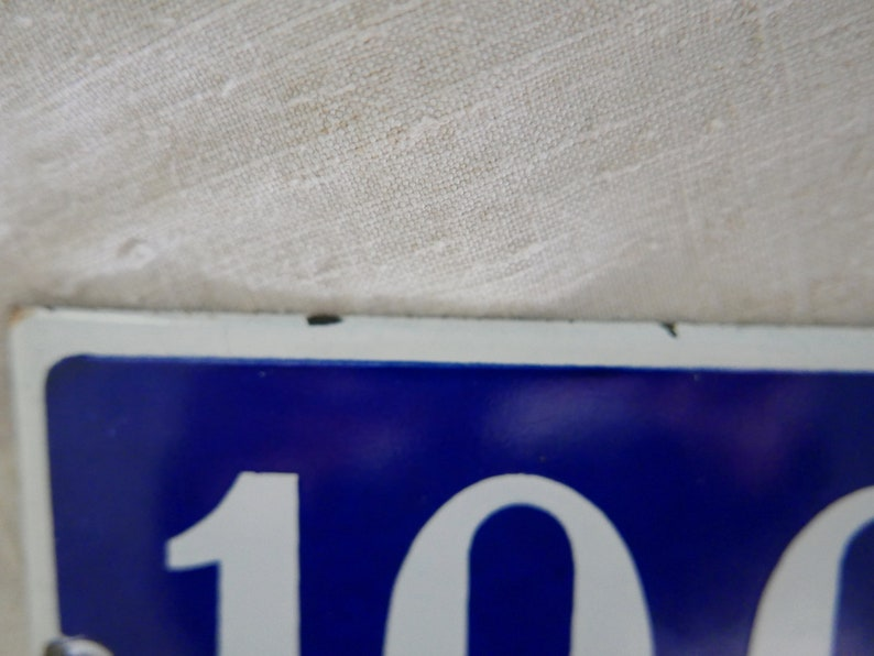 Vintage French House Number 1930/'s. French Enamel Number Plate Enamel House Sign French Enamel House Number 100