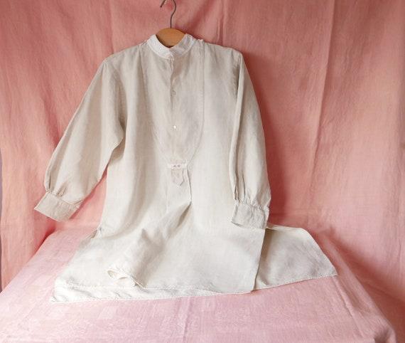 Vintage French Linen Shirt, Dress, Chemise, Artist