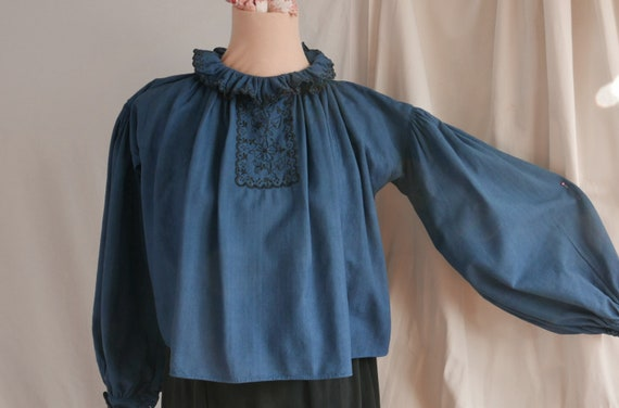 Vintage Romanian Blouse, Hand Embroidered, Balkan