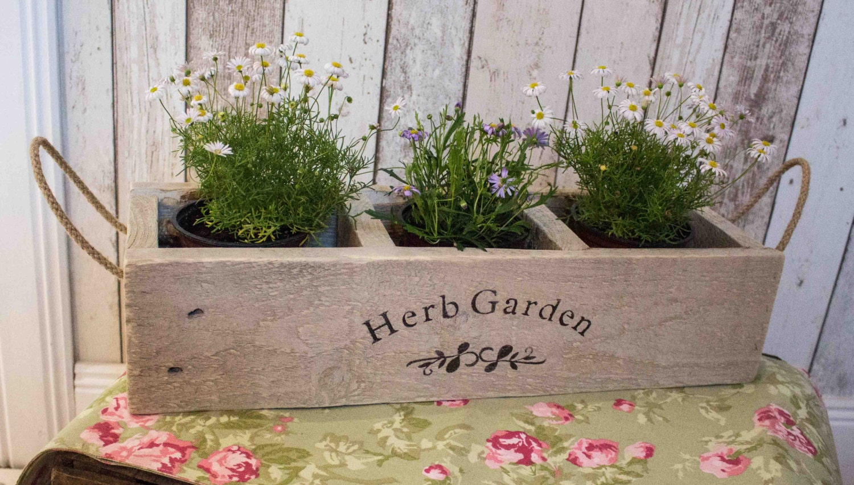 Herb Planter Wooden Planter Window Box Herb Garden Herbs Etsy