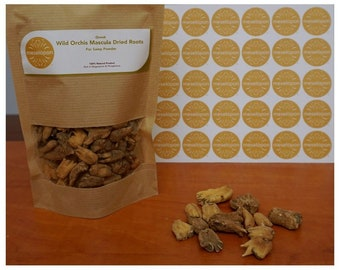 Wild Greek Orchis Mascula Dried Roots For Sahlep, Salep Powder 100-400gr ( 3.52-14.10oz )