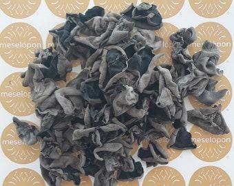 Dried Wild Auricularia, Wood Ear, Black Fungus Greek Mushrooms Whole 100-400gr / 3.52-14.10oz