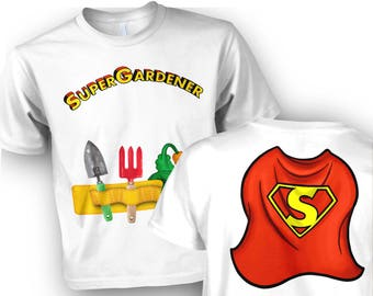Super Gardener Costume (Front and Back) kids t-shirt