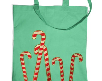 Dancing Candy Canes tote bag