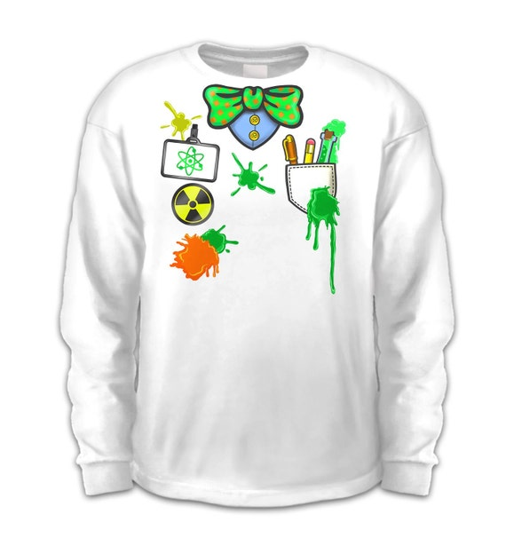 Mad Scientist Costume Long Sleeve Kids T Shirt Etsy
